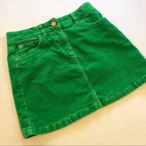 Mini Boden green Corduroy skirt